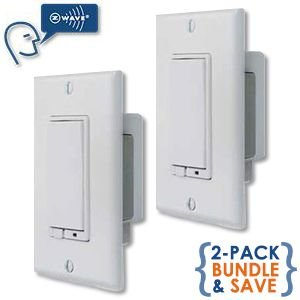 linear z wave wall mount dimmer w faceplate 2 pack savings bundle. Black Bedroom Furniture Sets. Home Design Ideas