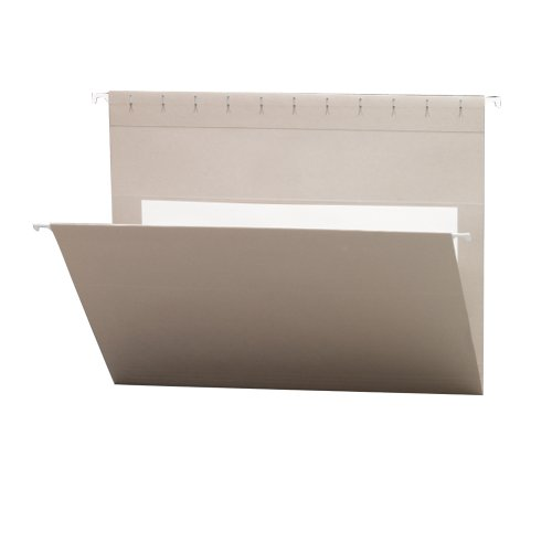 Smead Hanging File Folders with Interior Pocket, Letter Size, Gray , 25 per Box (64431) by Smead