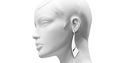 Canyon bijoux Boucles d'oreilles percées lame en argent 925 passivé, 23.1g