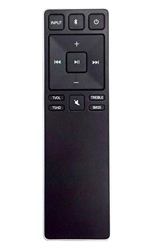 New Remote Control XRS321-C fit for VIZIO Sound Bar SB3820-C6 SB3821-C6 SB2920-C6 SS2521-C6 SS2520-C6 SB3821-D6 SB3820x-C6 (Black)