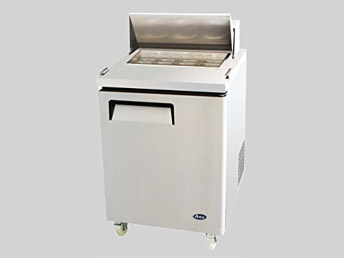 Atosa USA MSF8301 Stainless Steel Sandwich/Salad Prep Table 27-Inch One Door Refrigerator (Stainless Steel Table Refrigerator)