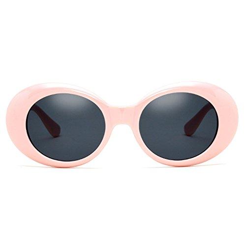 Womens Mens Ovale Lunettes De Soleil Rétro hibote Style Lunettes UV400 C4