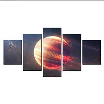 Fyyanm 5 Pieces De L Espace Mars Planete Maison Moderne Mur Decor