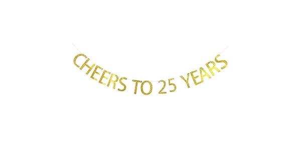 Amazon.com: Cheers a 25 años Banner 25th cumpleaños ...