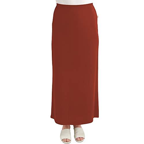 (Monte Carlo maxi ITY Modest Long Slinky Skirt (6, Orange))