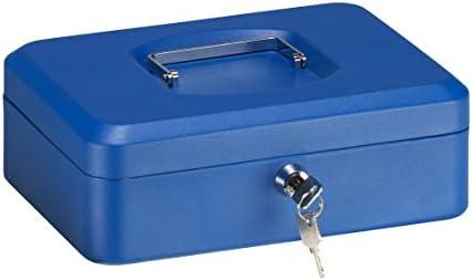 Arregui C9235 Caja de Caudales de Acero, 25 cm de ancho, con bandeja multifunción, azul, 250 x 90 x 180 mm: Amazon.es: Bricolaje y herramientas