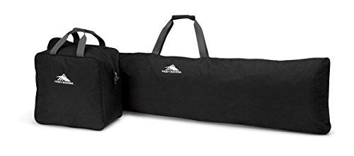 High Sierra Snowboard Sleeve & Boot Bag Combo, Black/Mercury
