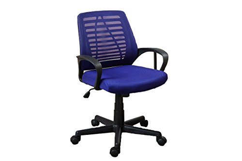 Poundex Mesh Back Office Chair, Blue