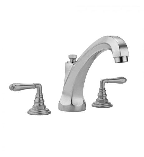 Polished Nickel Standard Plumbing Supply Jaclo 6972-T675-TRIM-PN Astor High Profile Roman Bathtub Filler with Hex Lever Handles