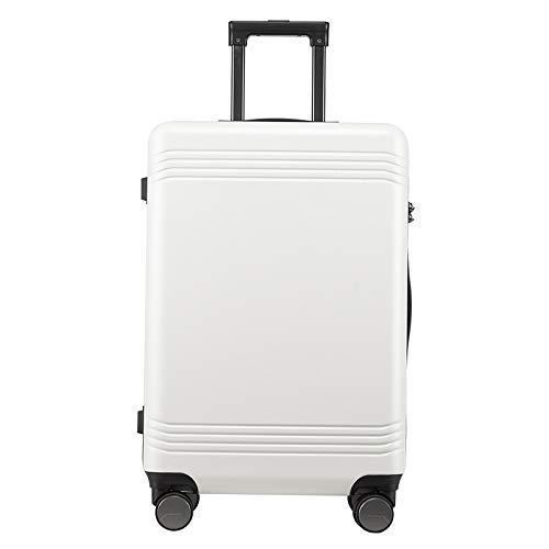 TONGSH 20インチ搭乗スーツケース軽量4輪ABSハードシェル荷物スーツケーストラベルトロリー内蔵TSAコンビネーションロック(24インチ28インチ) (色 : 白, サイズ さいず : 20 inch) B07PM75W1B 白 20 inch