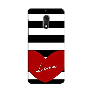 Cover It Up Love Stripes Hard Case For Nokia 6 - Multi Color