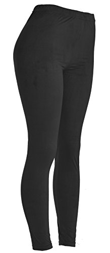 VIV Collection Women's Printed High-Waist & Solid Velour Leggings 31dy6A 2BybML