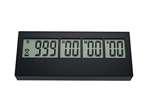 999 Day Countdown Timer, QWM Digital Countdown Timer Long Time Countdown Function can be used for Cooking Teacher Vacation Retirement Wedding Lab