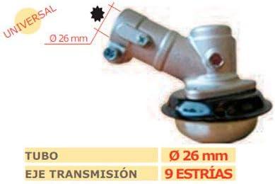 MARBEGARDEN Codo transmision desbrozadora 9 estrias 26mm: Amazon.es: Jardín