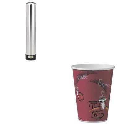 KITSJMC3400PSLOOF12BI0041 - Value Kit - Solo Bistro Design Hot Drink Cups (SLOOF12BI0041) and San Jamar Large Water Cup Dispenser w/Removable Cap (SJMC3400P) by Solo