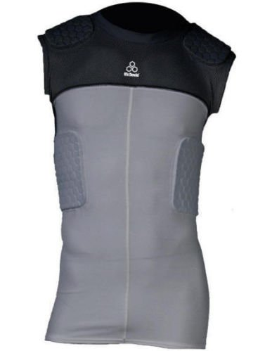 McDavid Youth Hexpad Sleeveless 5 Pad Bodyshirt - Grey/Black Extra Large (Mcdavid Youth Hexpad 5 Pad)