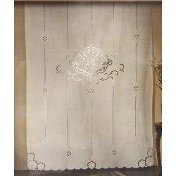 Tenda di puro Lino ricamata ad Intaglio: Amazon.it: Casa e cucina