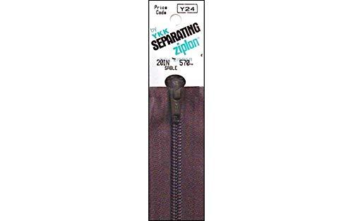 "YKK Ziplon Separating Zipper 20"" Sable"