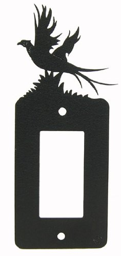 Pheasant GFI Rocker Light Switch Plate Cover by Innovative Fabricators, Inc.