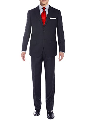 Salvatore Exte Men's Modern Two Button Sharkskin Suit (46 Short US / 56S EU/W 40