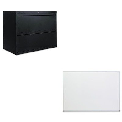 KITALELF3629BLUNV43624 - Value Kit - Best Two-Drawer Lateral File Cabinet (ALELF3629BL) and Universal Dry Erase Board (UNV43624) by Best