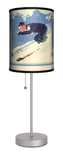 Sports - Ski Vintage Sport Silver Lamp