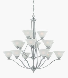 Philips Lighting TK0023217 Prestige 15 Light Chandelier, Brushed Nickel ()