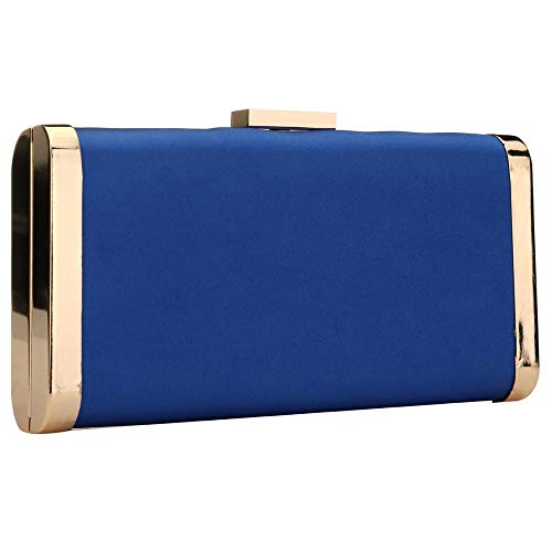 with Handbag Metal Purse Tassel for Evening Women Sparkly Clutch Blue Party Hardcase in Oq0w8IHw