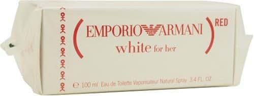 Emporio White By Giorgio Armani For Women. Eau De Toilette Spray 3.4-Ounce (special Edition Red Design Bottle)