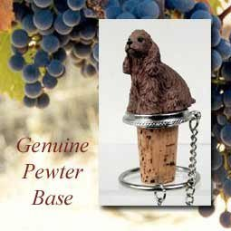 - Brown Cocker Spaniel Wine Bottle Stopper DTB15A by Conversation Concepts