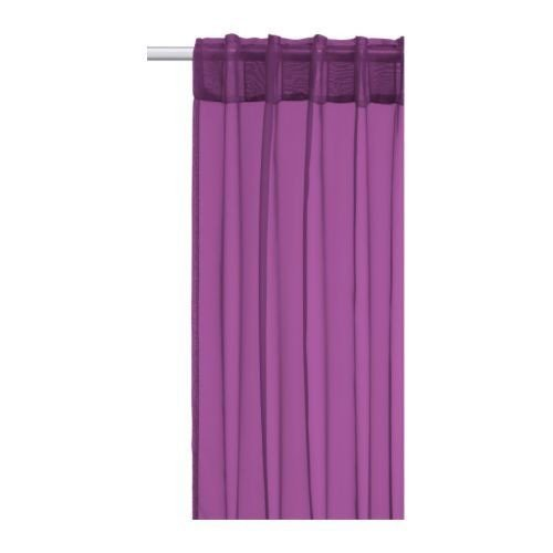 IKEA SARITA Purple Set of 2 Decorative Curtain Curtain Curtain