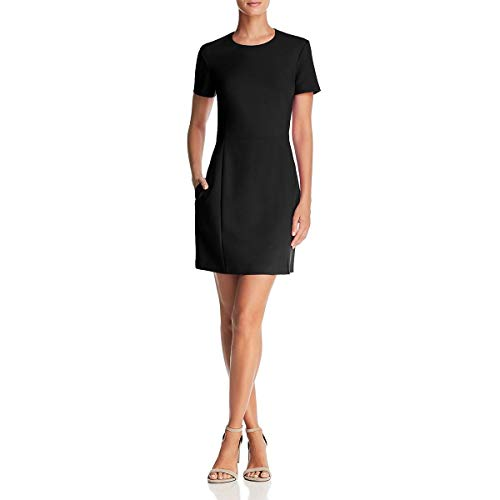 French Connection Women's Whisper Light Stretch Solid Mini Dress, Black Ruth, 4 from French Connection