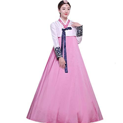 (XINFU Women Korean Traditional Long Sleeve Hanboks Dancing Dress Cosplay)