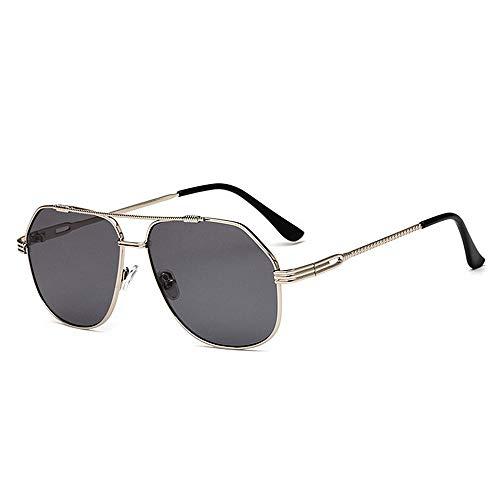 Dame UV400 Couleur Plage Gray aviateur Gray Protection Lunettes Plat Cadre Conduite de lentille Pleine de Joo Style de d'été Couleur Vacances Soleil RP0Fa0x6