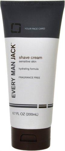 Every Man Jack Rasage Peau Sensible Crème sans parfum - 6,7 onces liquides