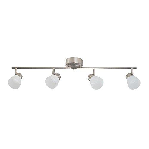 Portfolio Sawyer 4-Light 35.8-in Brushed Nickel Dimmable Integrated LED Track bar light kit Fixed Track Light Kit