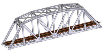 Track Truss Bridge Kit (ATLAS MODEL 2571 Code 80 Truss Bridge Silver)