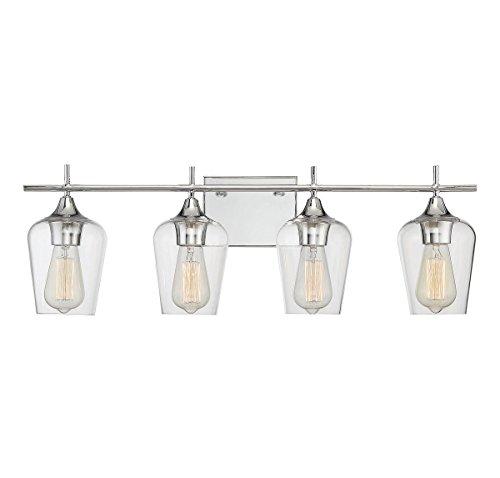 Savoy House Octave 4 Light Bath Bar 8-4030-4-11 in Polished Chrome Four Bulb Bar Light
