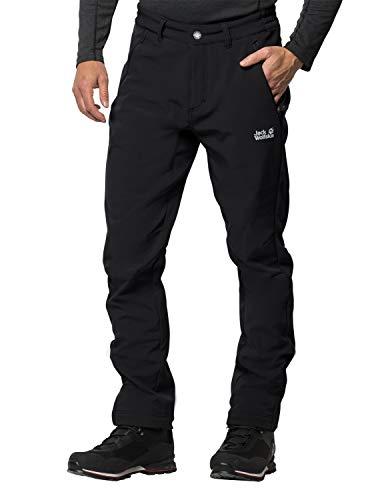 Jack Wolfskin Men's Zenon Softshell Windproof Softshell Hiking Pants, Black, Size52(US-M-36/32)