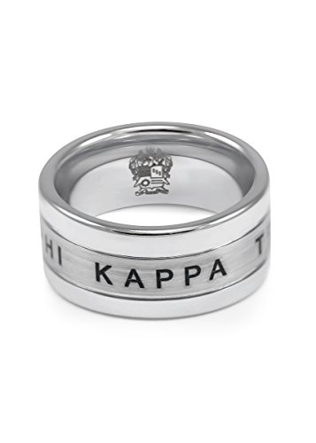 The Collegiate Standard Phi Kappa Theta Fraternity Inspired Tungsten Ring with Crest and Greek Letters - ()