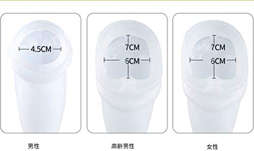 ポータブル尿袋 再利用可能なコレクション小便器 失禁アンダーパンツ こぼれ防止機能付き尿収集バッグ高齢者用尿排水バッグ、手術後、身体障害者 (Size : Elderly men)