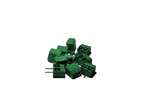 Screw Terminal Block Extra Long Pins for Breadboarding 5mm Pitch 2 Pole (10 pcs)