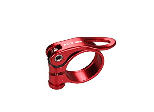 Gub CX18 Aluminum Alloy Bicycle Seatpost Clamp Quick Rlease Bike Seatpost Clamp (Red, (Lock Seat Clamp)