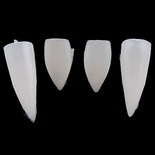 ZHUOTOP 4PCS White Hot Fancy Vampire Denture Teeth Fangs Party Halloween Costume + Box