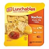 Kraft Oscar Mayer Lunchable Cheese Dip and Salsa Nacho, 4.4 Ounce - 16 per case.