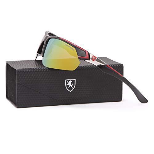 Khan Polarized Sport Sunglasses for Men and Women, Multipurpose UV400 Protection, FDA Approved ()