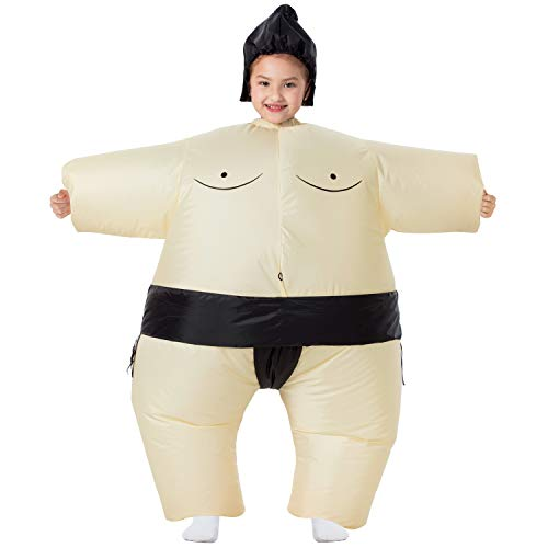 Cheap Halloween Costumes Ideas For Guys (YEAHBEER Inflatable Costume Sumo Blow Up Costume Halloween Cosplay Costumes (Kids)