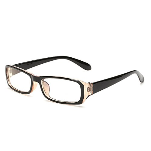 D.King Vintage Inspired Classic Rectangle Glasses Frame Eyewear Clear Lens - Glasses Clear Uv