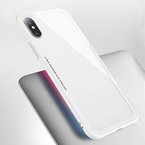 Cubierta Suave de la Caja de la Parte Posterior del Tel¨¦Fono de Cristal Moderada para iPhone 6 7 8 Plus X XR XS MAX