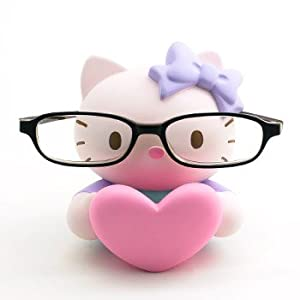 Hello Kitty Eyeglasses Stand: Pink Heart